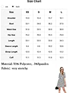 Romwe Women's Comfy Swing Tunic Short Sleeve Smock Polka Dot Loose Dress