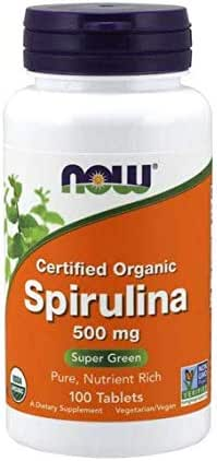 Now Foods Organic Spirulina Tablets, 180