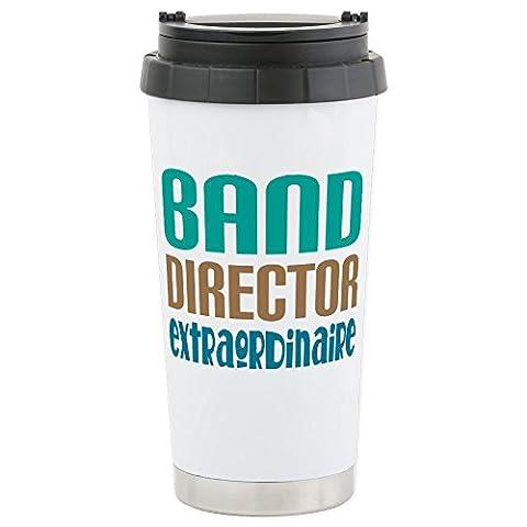 CafePress - BAND DIRECTOR EXTRAORDINAIRE - Stainless Steel Travel Mug, Insulated 16 oz. Coffee (Marching Band Mug)