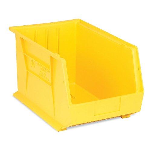 - Premium Plastic Stacking Bin 11 X 18 X 10 Yellow - Lot of 4