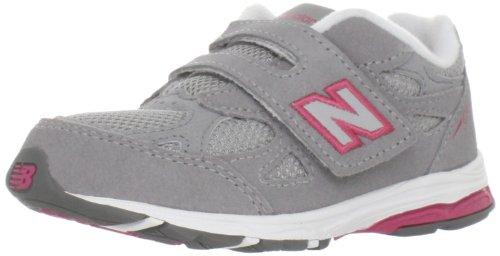 New Balance - unisex-baby 990v3 Infant Running Shoes, UK: 1.5XW UK Infant, Grey with Pink