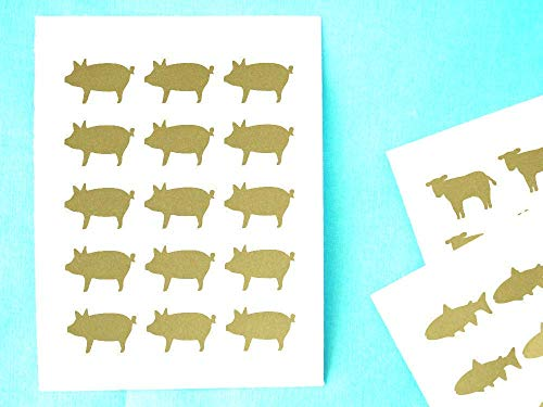 chicken beef fish stickers - 9