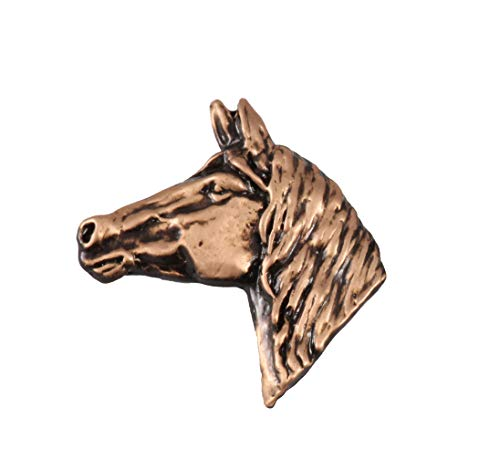 Creative Pewter Designs Horse Head Mammal Copper Plated Lapel Pin, Brooch, Jewelry, MC138