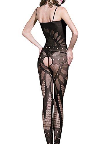 8700e664a4 Microcosm Sexy Mesh Lingerie for Women Open Crotch Corest Fishnet Mini  Dress (Style 1