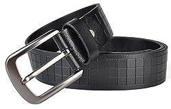 Galsang Excellent Leather Men's Bridle Belts#ip2013030 (41 in, Black)