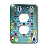 3dRose lsp_30660_6 Let S Play Bingo 2 Plug Outlet Cover