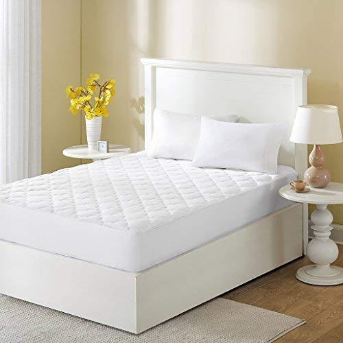 Sleep Philosophy Wonder Wool Mattress Cover 100 Percent Cotton Bed pad Queen White ()
