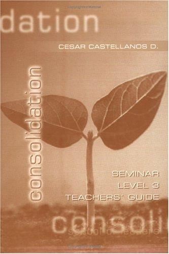 Consolidation: Teacher, Level 3 pdf