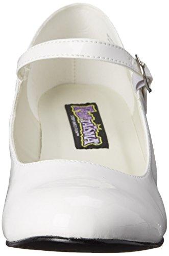 Pat wht Para 40 50 Tacón Mujer Blanco Talla Color Funtasma Zapatos Con Schoolgirl w4q57HnzXv