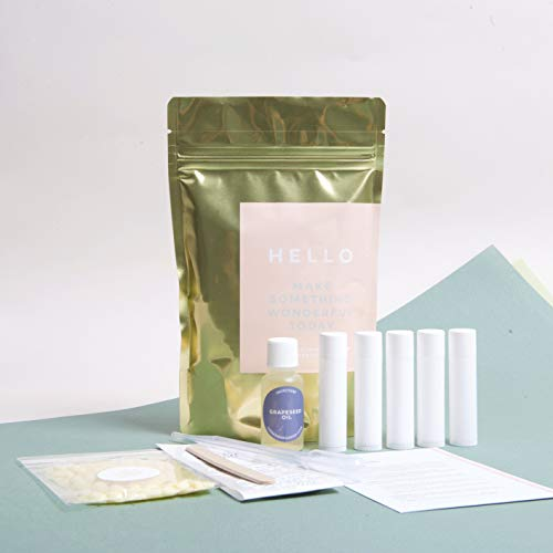 DIY Mini Lip Balm Making Kit - With Grapeseed Oil, Cocoa But