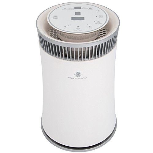 Air Cleaner Machine Allergy - SilverOnyx Air Purifier for Home with True HEPA Carbon Filter, UV Light, Ionizer. Best Air Cleaner for Allergies and Pets, Smoke, Dust, Mold, Smokers. Powerful Small to Large Room 500 sq ft. White