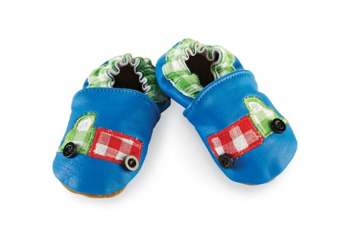 Mud Pie Baby-Boys Newborn Truck Shoe Socks, Blue, 6-12 Months