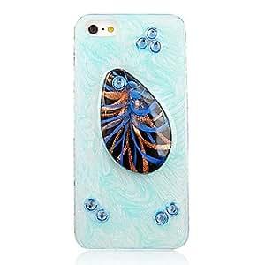 HC-Patrón Originalidad Oval Diseño especial con Sapphire Marco Transparente de nuevo caso para el iPhone 5/5S (colores surtidos)