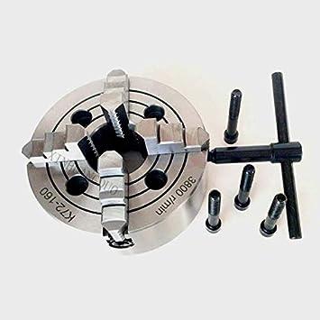 "6/"" Metal Lathe Chuck 160mm 4jaw Independent Reversible CNC Metal Lathe Milling"