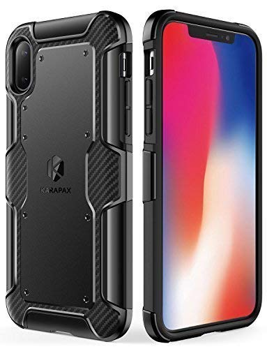 Anker iPhone X Case, iPhone 10 Case, KARAPAX Shield+ Case Dual Layer Heavy Duty Tough Military-Grade Certified Protection Good Grip [Support Wireless Charging] for Apple 5.8 in iPhone X (2017) -Black