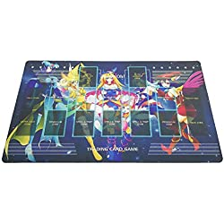 Yo-gi-oh Custom Template 2017 Master Rule 4 Link Zone Playmat Dark Magician Girls Playmat TCG Playmat MTG Playmat TCG Play mat Yogioh Playmat