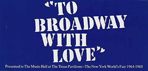 "Bock & Harnick""TO BROADWAY WITH LOVE"" New York World's Fair 1964 Brochure"
