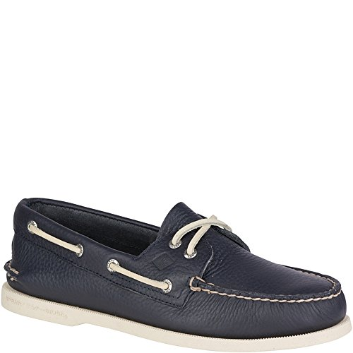 Sperry Top-Sider Men's Authentic Original 2-Eye Boat Shoe, New Navy, 10.5 M (Blue Boat Shoes)