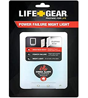 Life Gear LG24-10228-COL 4 in 1 FIRE Safety Night Light (2