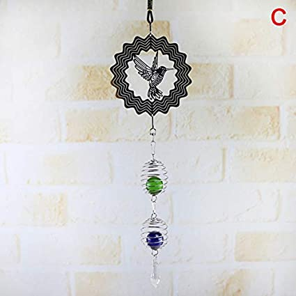 Wohlstand Wind Chimes,Stainless steel wind spinner,Hanging Windchime,crystal ball Ø 30mm made with facet cut,Pure Handmade Wind Chimes Outdoor Indoor for Garden and Home Garden Décor Garden & Outdoors