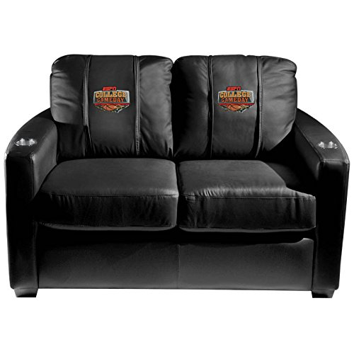 XZipit Silver Loveseat with ESPN College Basketball Logo Panel, Black