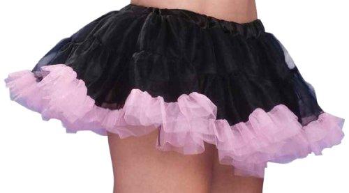 Forum 10-Inch Micro Mini Crinoline, Black/Pink, One Size