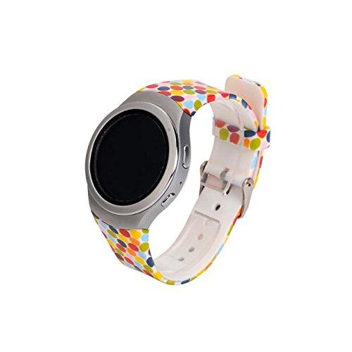 - Creazy® Luxury TPU Silicone Watch Band Strap for Samsung Galaxy Gear S2 Sm-r720 (Style-B)