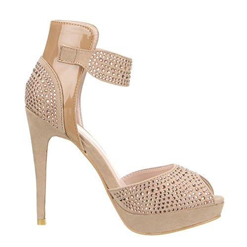 Ital-Design - Zapatos de vestir de Material Sintético para mujer Marrón - marrón claro
