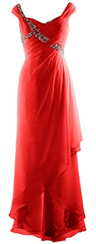 Chiffon Bride Elegant Macloth Formal Neck V Mother Dress Low Red Gown Of Maxi High vpq0Rpwa