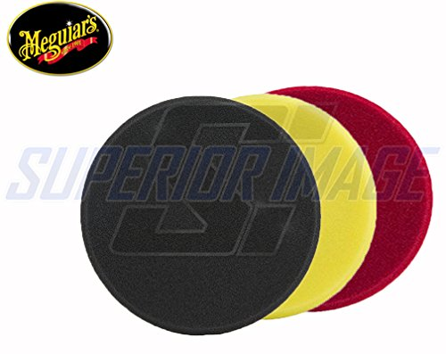Meguiars 7 in Rotary Foam Polisher Pad Combo Kit