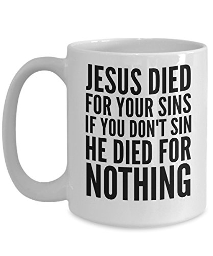 Jesus Coffee Mug - I Love Christ Funny Christian Mugs Tea Cup - For Women Mom and Men - Cute Inspirational Encouragement Quote - Joy Atheist Gift as Science over Religion (Bloom Where God Plants)