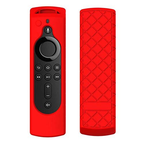 XuBa For Amazon Fire TV Stick 4K TV Stick Remote Silicone Case Protective Cover red