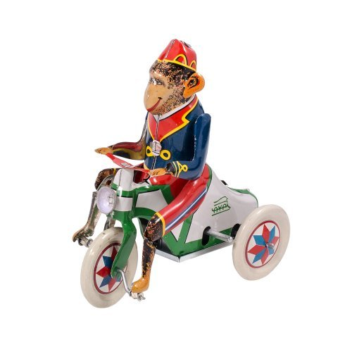 Alexander Taron Importer Tin Wind Up Monkey Rider Collectible -