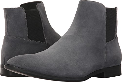 Calvin Klein Men's Larry Ankle Bootie, Grey Suede, 11 M US