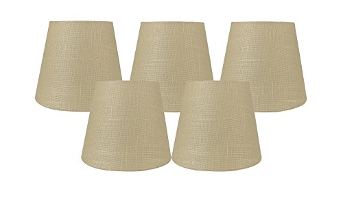 aize Linen Clip On Chandelier Lamp Shades, 4-inch by 6-inch by 5-inch ()