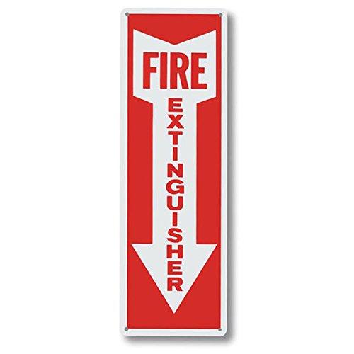 """Fire Extinguisher"" w/ Arrow, Aluminum, 12'' x 4'' (18 Pack)"