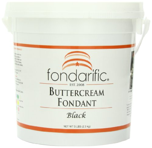Fondarific Buttercream Black Fondant, 5-Pounds by Fondarific