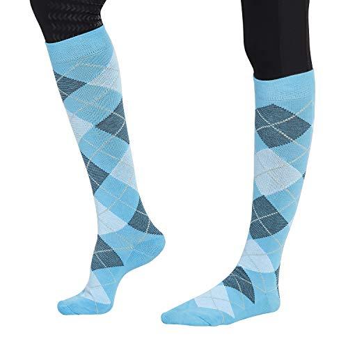 TuffRider Ecogreen Bamboo Argyle Socks, Blue/Navy