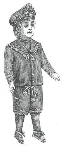 (1889 Boy Doll Sailor Suit Pattern)