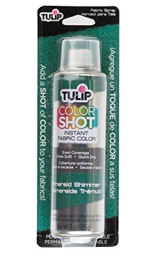 Tulip ColorShot Instant Fabric Color 3oz. Emerald - Emerald Shimmer