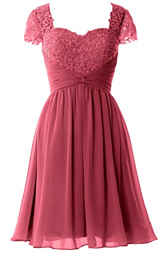 Lace Women MACloth Gown Dress Cap Formal Mother Weinrot Short Sleeve Party of Bride Rdw6qU0d