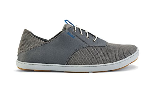 (OLUKAI Nohea Moku Shoes - Men's (8.5 D(M) US / 41.5 EUR, Fog/Charcoal))