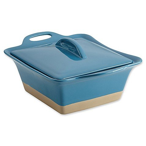 Rachael Ray Collection Stoneware Square Casserole, 2.5-Quart|TURQUOISE