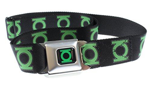 Green Lantern Logo Seatbelt Belt - Cheap Seat Buckle Belts