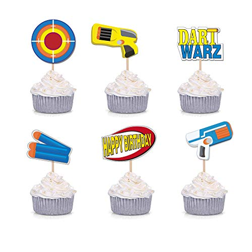 Target Cake Decorations (GmakCeder Birthday Nerf Cupcake Topper 24)