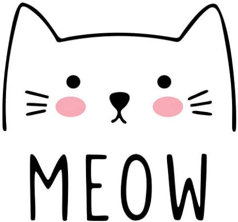 Wall Stickers MEOW Cat Pattern Home Decor Wall Decal Sticker DIY Mural Art Decal Self Adhesive Removable PVC Wall Paper Room Decor
