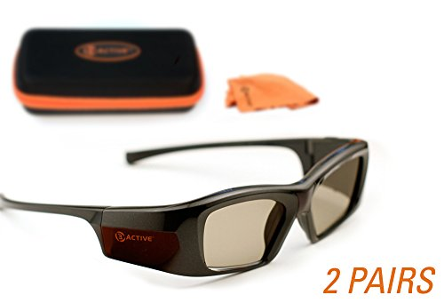 EPSON-Compatible 3ACTIVE® 3D Glasses. Rechargeable. TWIN-PACK