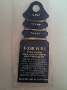 fuse wire 5 amp 15 amp 30 amp office products. Black Bedroom Furniture Sets. Home Design Ideas