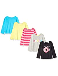Spotted Zebra Girl's Toddler & Kids 5-Pack Long-Sleeve T-Shirts