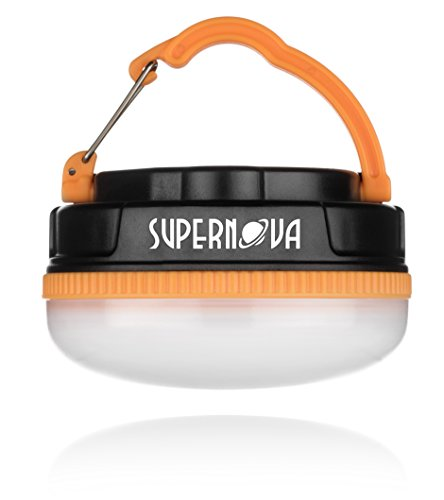 Supernova Halo 150 Extreme LED Camping and Emergency Lantern - The Brightest Most Versatile Tent Light Available - Backpacking - Hiking - Auto - Home - College - Batteries Included (Cadmium Orange)